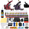 Solong Tattoo Complete Tattoo Kit for Beginner Starter 2 Pro Machine Guns 28 Inks Power Supply Needle Grips Tips TK204-39
