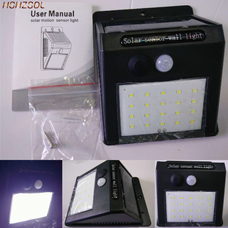 LED Solar PIR Motion Sensor Wall Light 121620 LED Outdoor Waterproof Energy Saving Street Yard Path patio Garden Security Lamp