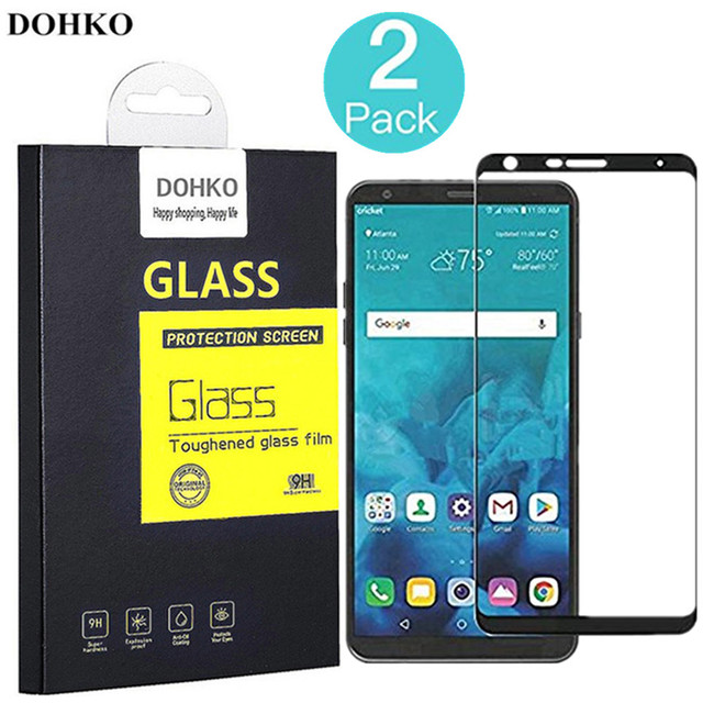 2 PACK DOHKO For LG Stylo 4 Tempered Glass 0.26mm 2.5D Full Cover Screen Protector For LG Stylo4 Prime 5.7 inch LM-Q710MS 4