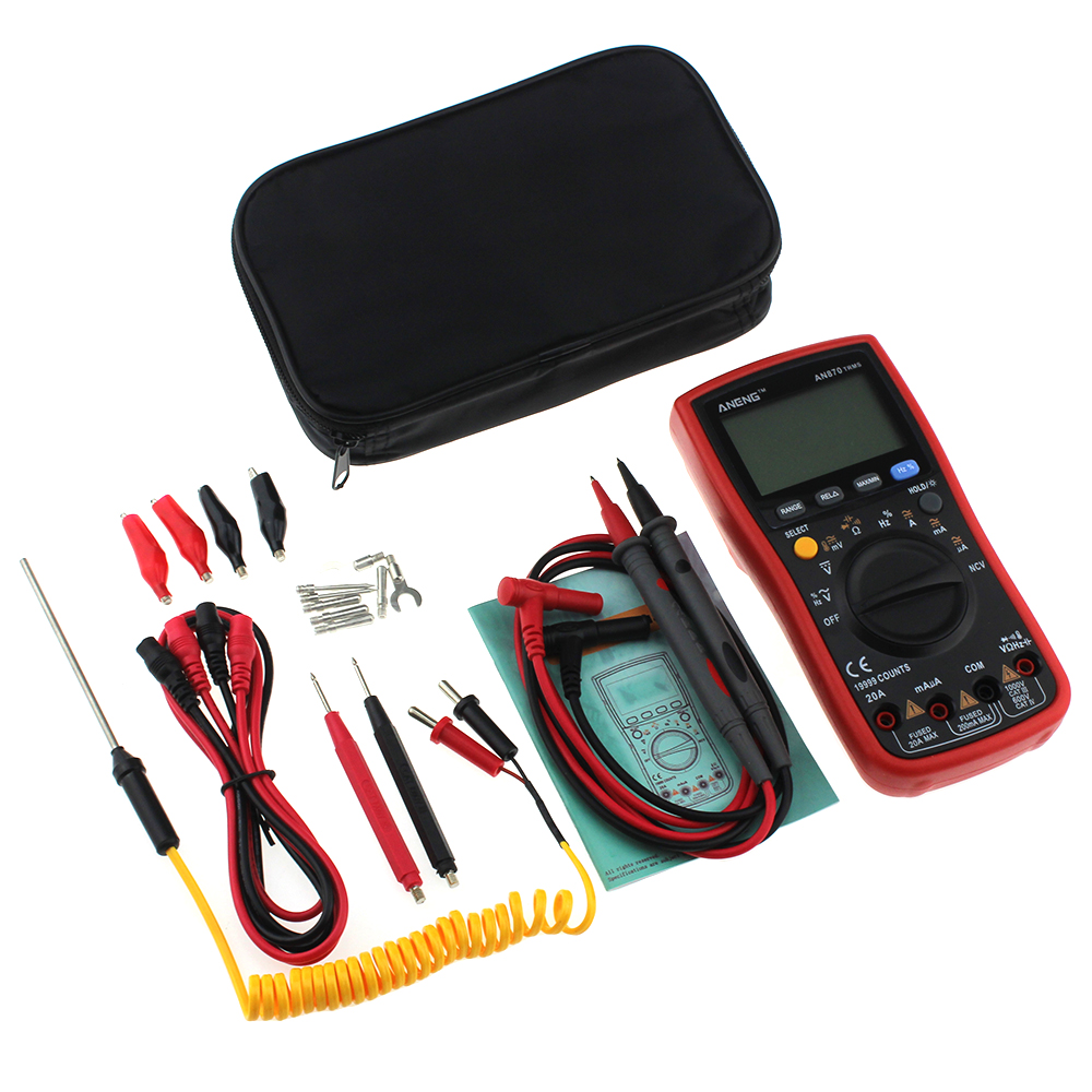 Auto Range Digital Precision multimeter Ohmmeter AC/DC Voltage Ammeter Transistor Tester Dropshiping PO28 цена