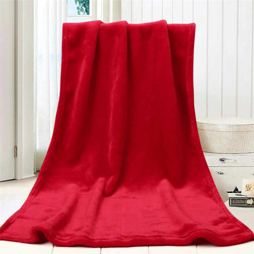 Super Soft Fleece Warm Throw Solid Kids Blanket Warm Coral Blankets Flannel On The Bed 45*65cm Oct#1