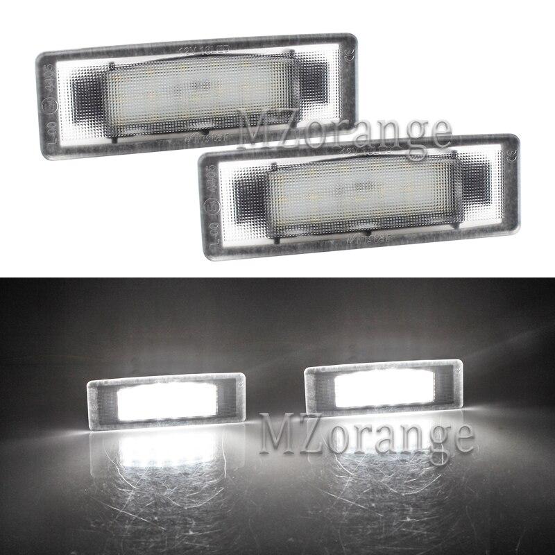 2 Pcs Número LED License Plate Luzes Para Kia Optima 2006-2014 Optima Híbrido 2011-2012 Cadenza Premium 2014 K2/K3/K5 Nenhum Erro