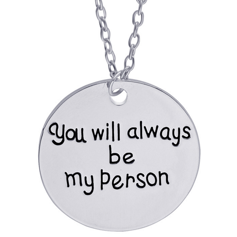 necklace&pendant for lovers best friend friendship charm jewelry <font><b>you</b></font> are my person <font><b>you</b></font> will always <font><b>be</b></font> my person <font><b>sweet</b></font> gift women