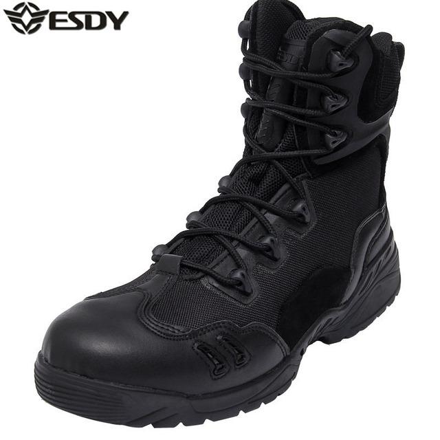 Ejército de EE.UU. de Los Hombres Al Aire Libre Genuino Cuero de Grano Completo Botas Tácticas Desierto Botas de Combate de Los Hombres Táctico Militar Botas Hombre Chaussures