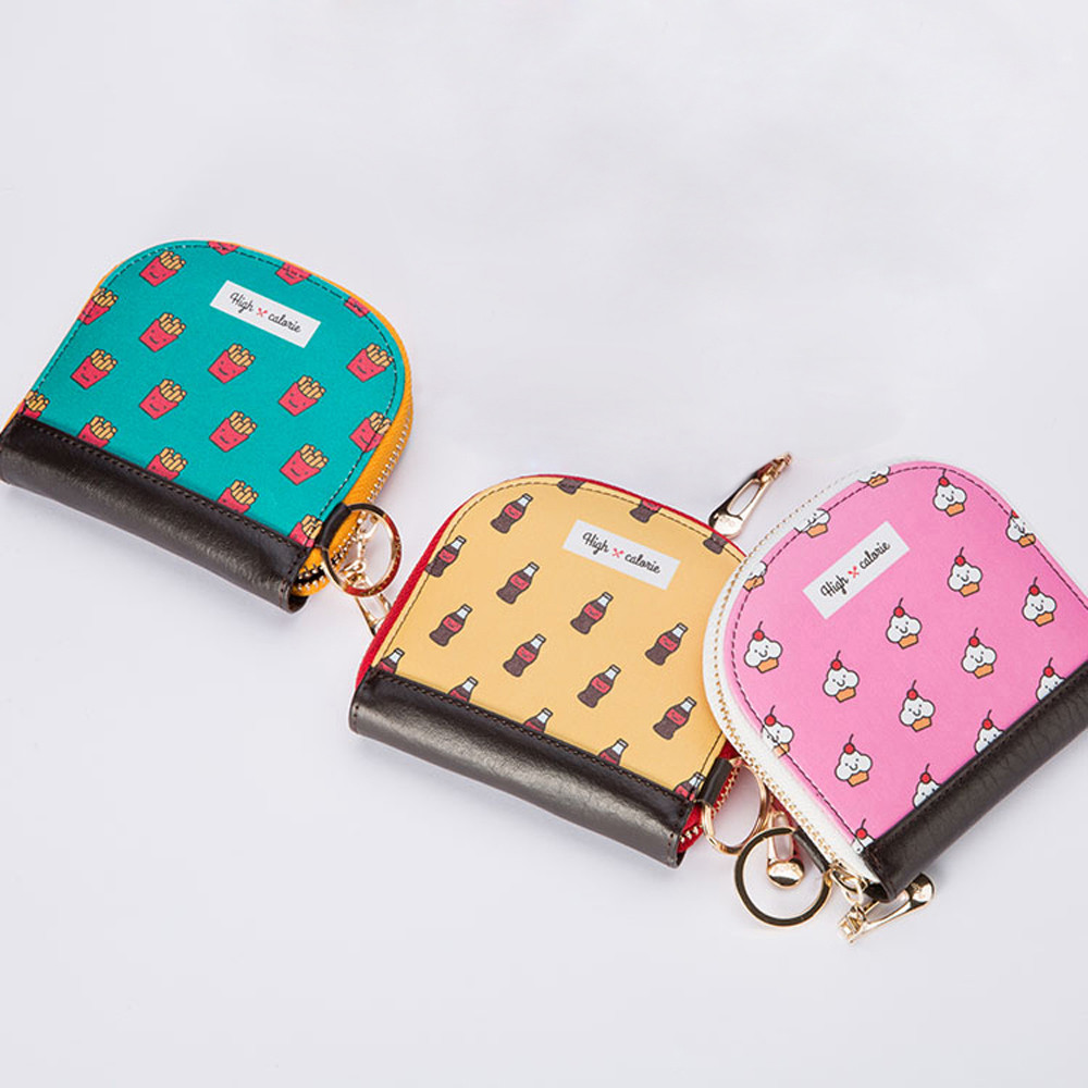 CONEED New Women Lovely Style Lady Small Wallet Zipper Food Print Purse Clutch Bag drop ship ap27m30