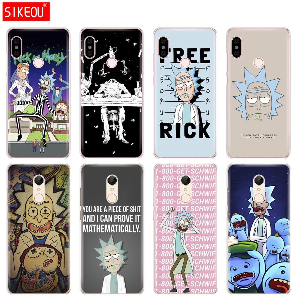 Silicone  Cover phone  Case for Xiaomi redmi 5 4 1 1s 2 3 3s pro PLUS redmi note 4 4X 4A 5A rick and morty