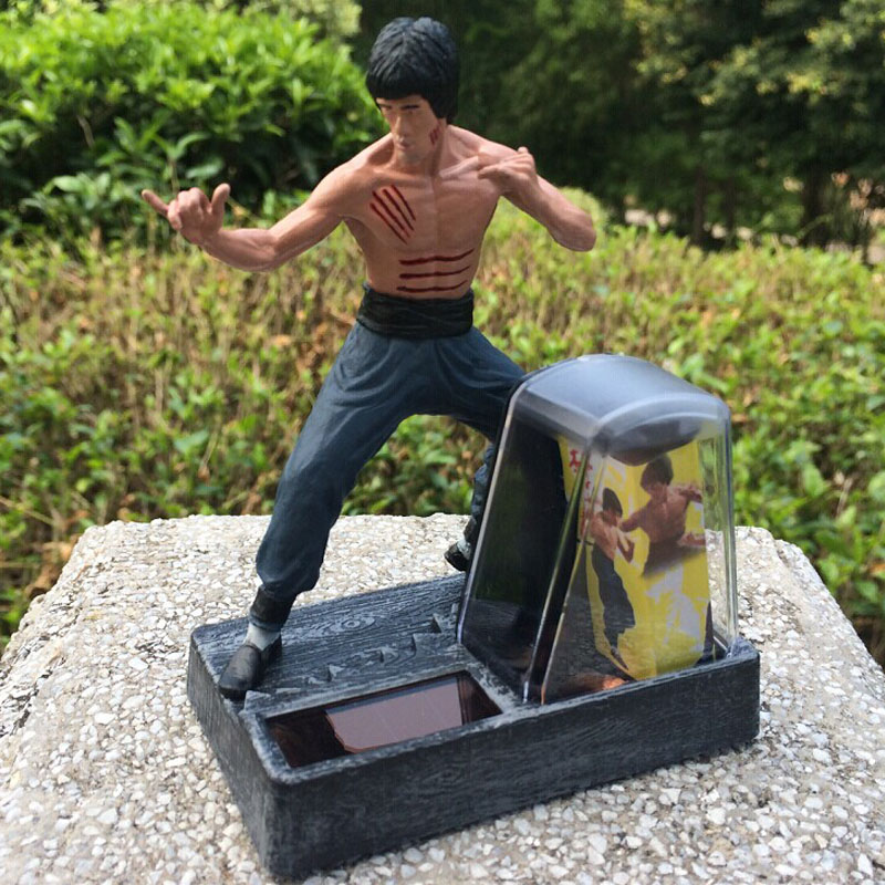 Cool Bruce Lee Kung Fu PVC Action Figures classic Collection Toys New in Box Automotive Solar Decoration Free Shipping vingate bruce lee 3 sets classic tang suit kung fu martial arts wing chun outfit uniform fist of fury costume cotton comfort