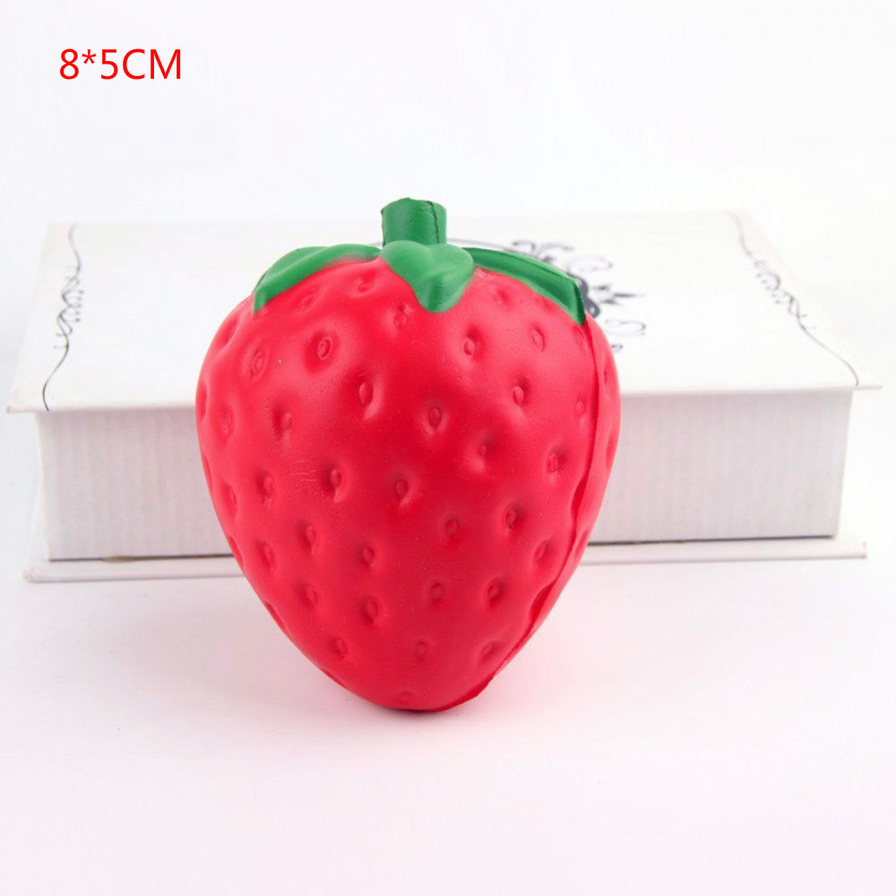 Cute Mini Simulation Strawberry Soft Slow Rising Squishy Toy Kawaii Healing Stress Reliever Squeeze Toys Gifts For Kids/adults