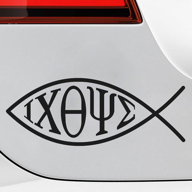 IXOYE Fish Car Sticker Tuning Window Funny Decals Stylish Auto Creative Products Automotive Bomb Accessories for Cars Styling
