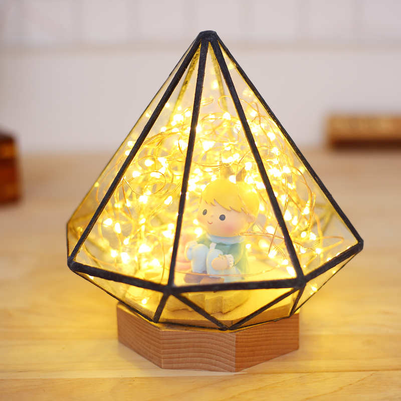 Glass Display Cloche Domes LED Night Lamp Table Light for Christmas Wedding Decoration, USB Gift Wire LED Fairy String Lights high quality 3d led night light usb switch table lamp lanterna for home decoration