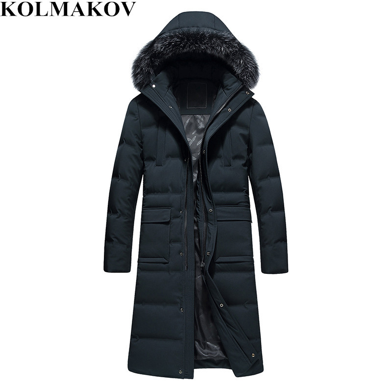 2018 New Winter Men's Leisure Hooded   Down   Jackets Mens 80% White Duck   Down     Coats   Men Jackets Top Quality Thickening   Coats   Men