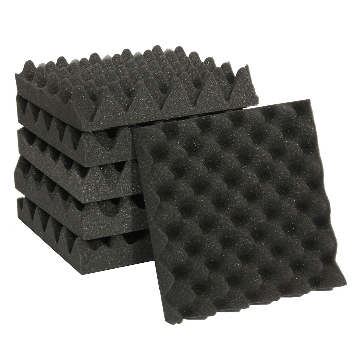 6Pcs 25X25X5CM Studio Acoustic Wedge Studio Foam Sound Noise Insulation Sponge Absorption Treatment Panel Tile