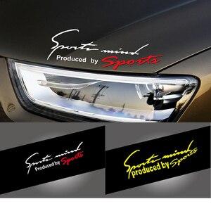 Image 2 - Car Sticker Auto Decalcomania Impermeabile Del Faro di Modo Riflettente Adesivi Per Auto Adesivi Per Auto auto Moto Del Corpo Accessori per Lo Styling