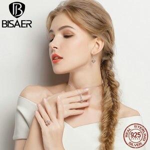 Image 3 - BISAER 925 argent Sterling mignon Orange abeille animaux pendentifs colliers et boucles doreilles et bague mode Zircon Dubai bijoux ensembles