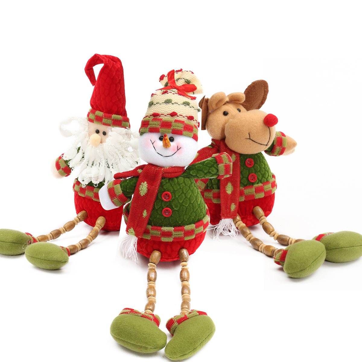 Outside ornaments - Christmas Gift Santa Claus Snowman Deer Doll Decoration Pendants Outside Christmas Tree Ornaments For Home Deocr
