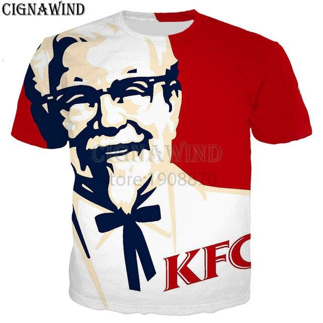 b4c9b68e9c3 New KFC Colonel sanders funny printed 3d women mens t shirt crew neck t  shirts short sleeve shirt unisex tees tops Plus size
