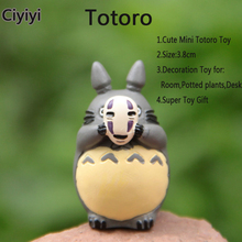Cute Cartoon Mini Totoro Toy For Potted plants&Room Decoration Anime Cat Display Figure Juguetes Birthday Jouet Gift