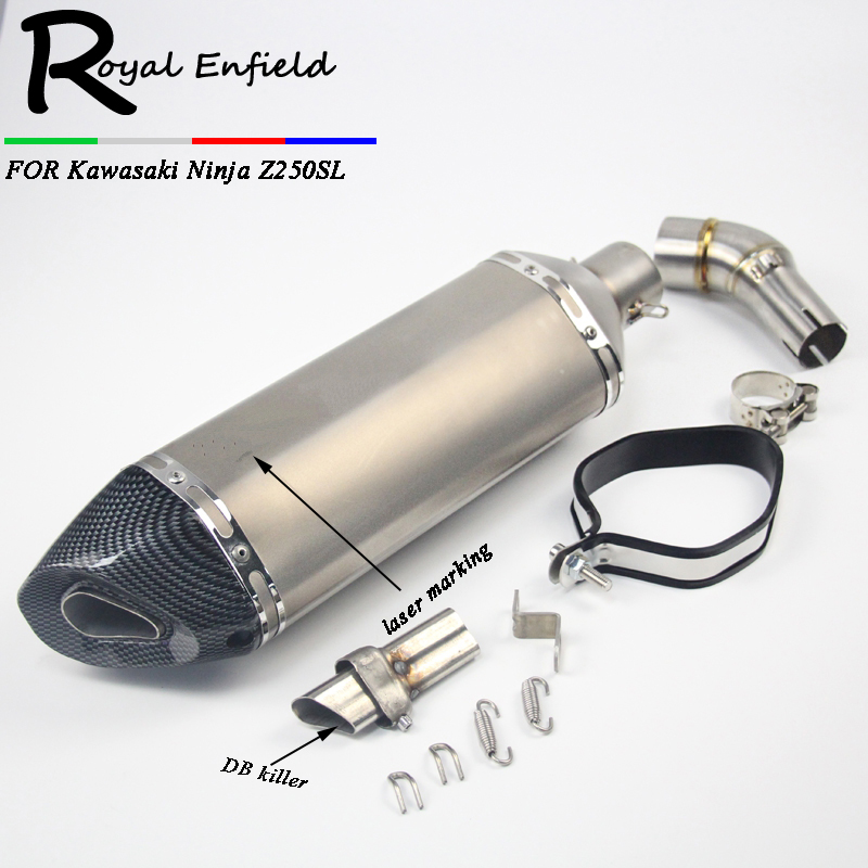 Z250 Z300 Motorcycle pipe exhaust Exhaust Middle Pipe Motorbike Muffler For Kawasaki 250R Ninja 250 Ninja 300 Z250SL Link Pipe for kawasaki ninja 300r 300 r 2013 2017 ninja 250r 2008 2016 z250sl z300 motorcycle folding extendable brake clutch levers