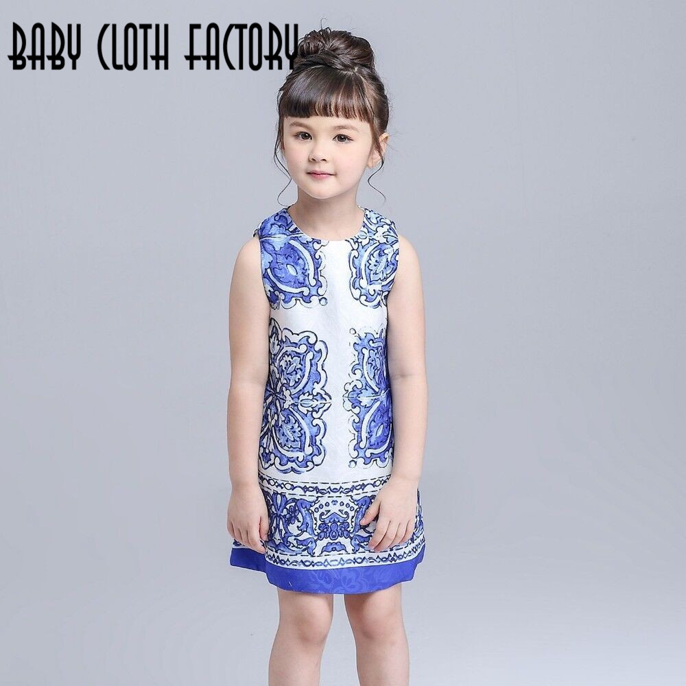 New winter dress blue and white porcelain china dress lovely party new winter dress blue and white porcelain china dress lovely party dress baby girl flower dress children clothes hot sale in dresses from mother kids on izmirmasajfo