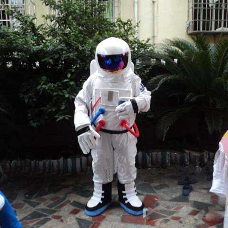 Spaceman Mascot Costume Astronaut Halloween Party Dress AdultSize Free Shipping