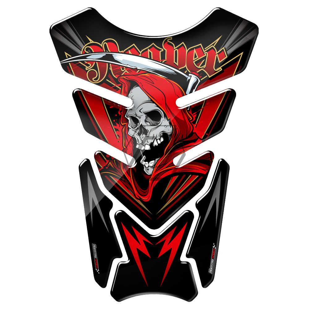 Universal 3d motorcycle tank pad gel protector sticker death grim reaper tankpad case for honda suzuki