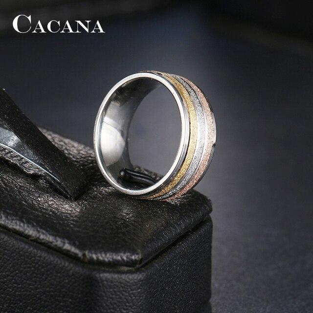 Кольца cacana из нержавеющей стали для женщин трендовые обручальные