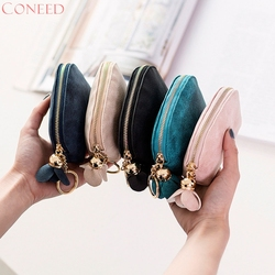CONEED   Women Leather Small Mini Wallet  Holder Zip Coin Purse Clutch Handbag 40