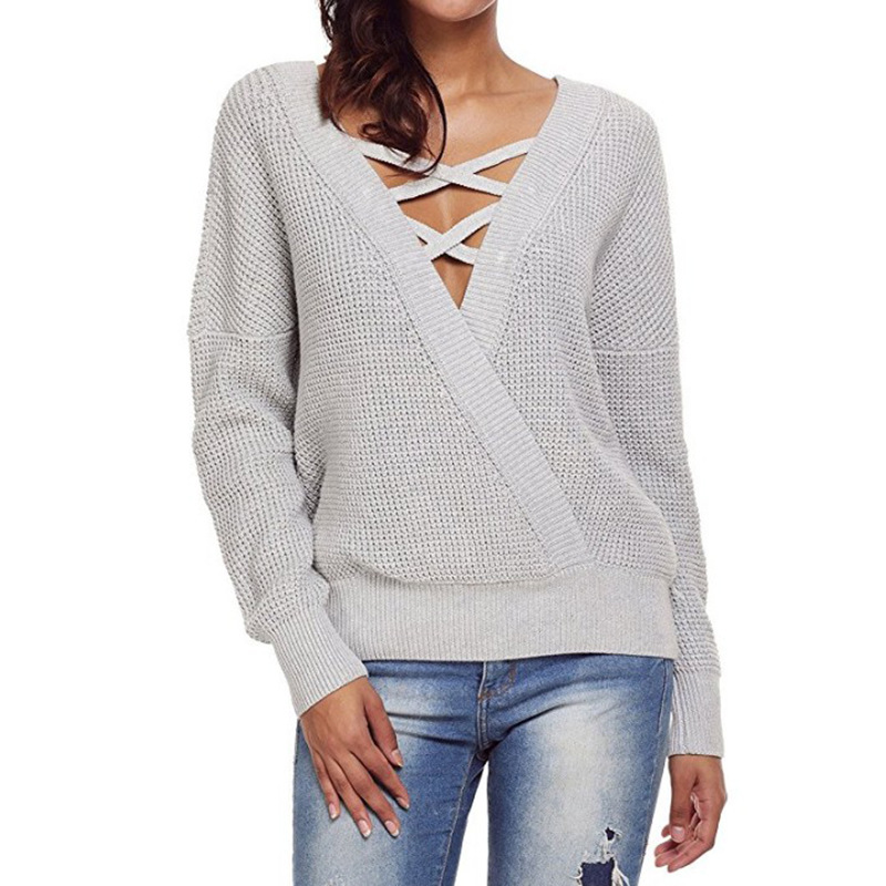 Poncho Real Jumper Sale Blusas De Inverno Feminina 2019 Autumn New Womens Sweater Head Round Neck Loose Color Matching Knit Choice Materials Women's Clothing Sweaters