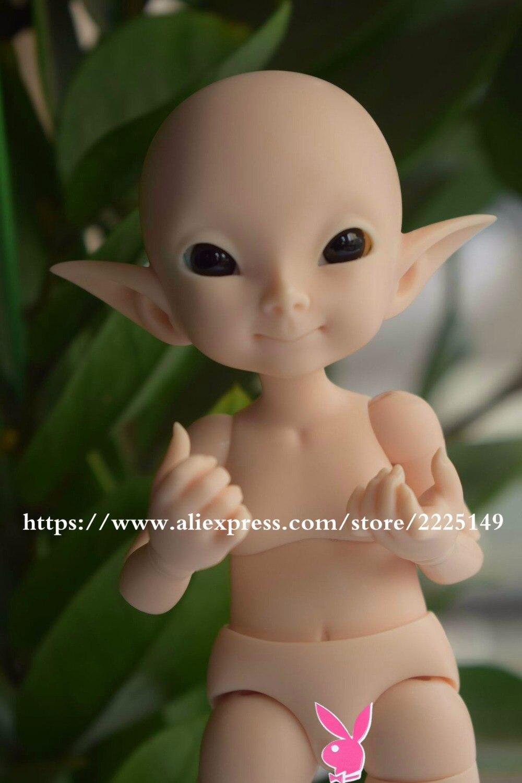 Free shipping lingxiyiwa bjd doll pupu BJD 1 7 with eyes