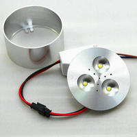 Free Shipping 3x2W LED Under Cabinet Lighting Puck Lights Downlight Spotlights Dimmable For Furniture Lighting 50pcs