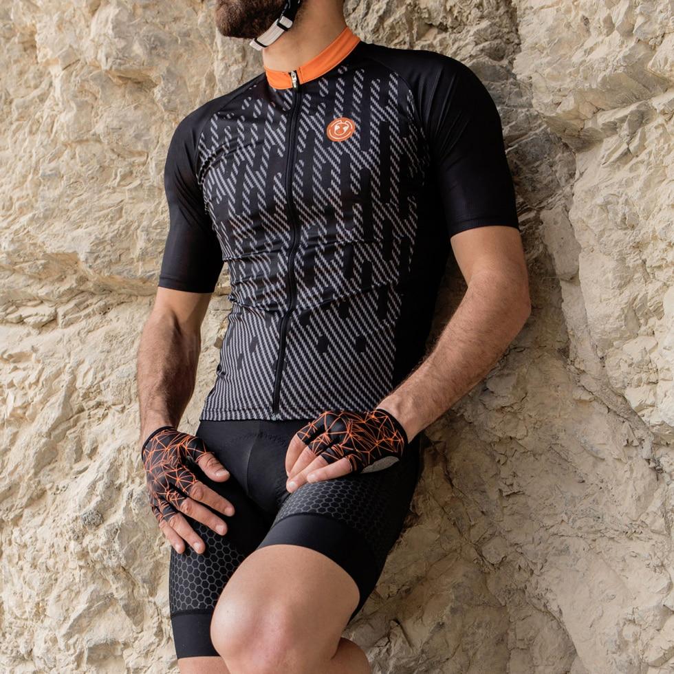 IRONANT Bike Jersey Cycling Clothing Shirt Short-Sleeve Ciclismo Maillot Racing Summer