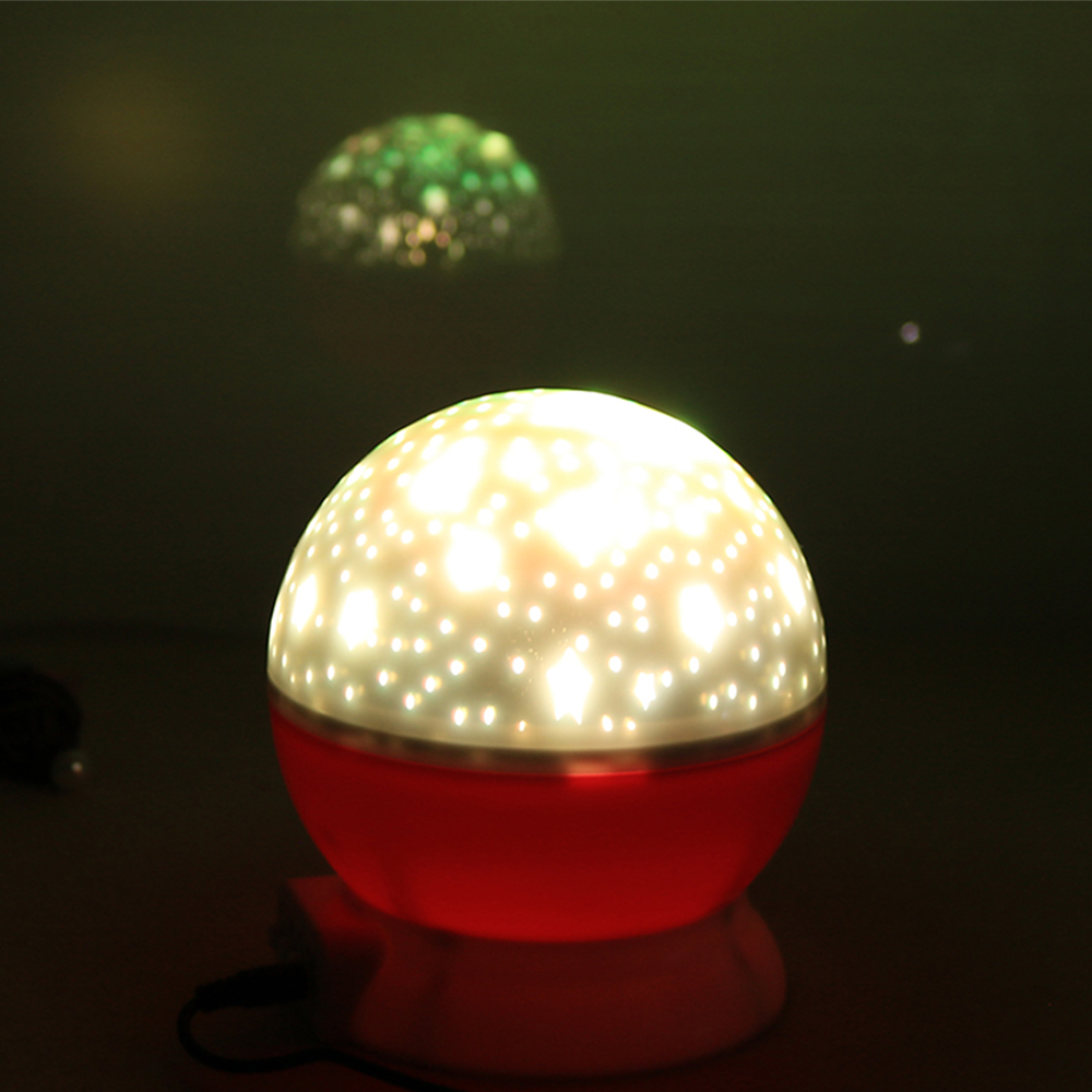 4 Led Constellation Starry Twinkle Projector Night Light