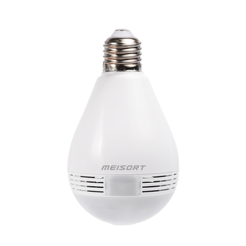 Meisort Bulb Lamp Wireless IP Camera Wifi 960P Panoramic FishEye Home Security CCTV Camera 360 Degree Night Vision led bulb lamp wireless ip camera wifi 1080p panoramic fisheye home security cctv camera 360 degree night vision