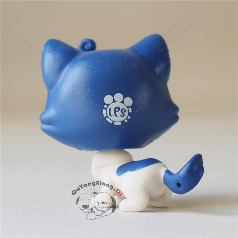 CWM046 Pet Shop Animal Azul gatinho gato boneca action Figure