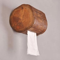 Wood towel tube home hotel toilet roll toilet paper towel rack bathroom kitchen tray LO62321