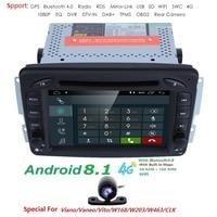 Android8.1 CarDVD радио gps Wi Fi для Mercedes/Benz W203 Viano Vito W639 W638 W168 W210 C180 C200 C220 c230 C240 C270 C320