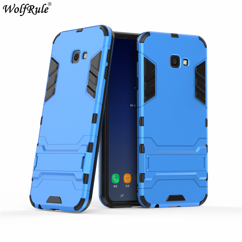 sFor Cover Samsung Galaxy J4 Plus Case Silicone Rubber Robot Armor Hard PC Back Case For
