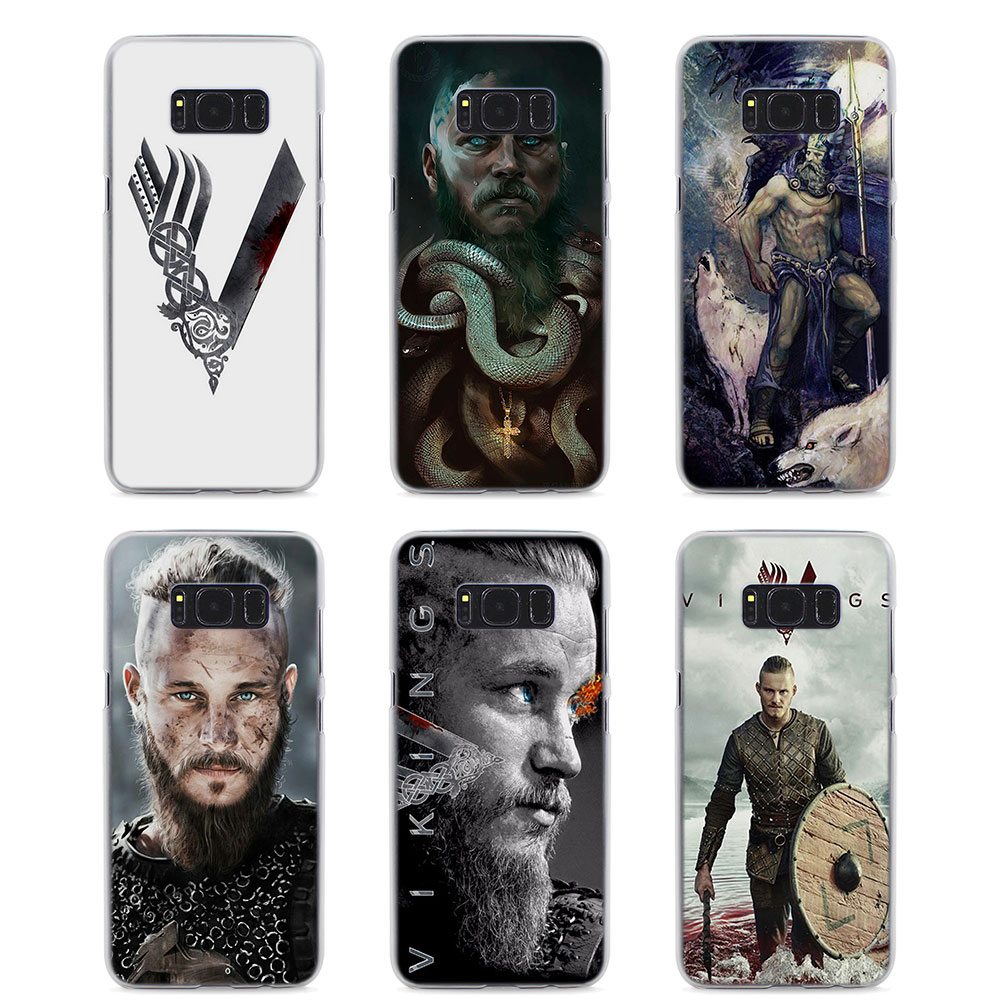 MOUGOL Vikings Feat Style hard Clear Phone Case for Samsung S9 S9Plus S8 S8Plus S6 S7 edge S5 Note8 5 4