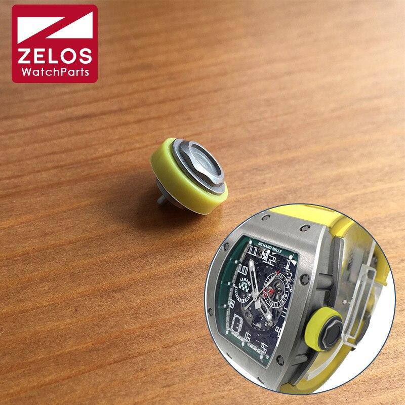Steel Waterproof Crown For Richard Mille RM 010 48mm Automatic Watch