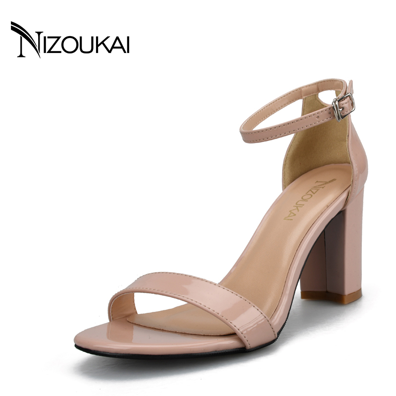 2017 Ankle Strap High Heels Sandals Women Sandals Summer Shoes Women High Heels Party Dress Sexy Sandals Big Size 42 lyc1-q new arrival black brown leather summer ankle strappy women sandals t strap high thin heels sexy party platfrom shoes woman