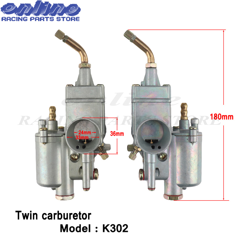 1 paire 28mm carburateur double carburateur Carby pour K302 BMW M72 MT URAL K750 MW Dnepr