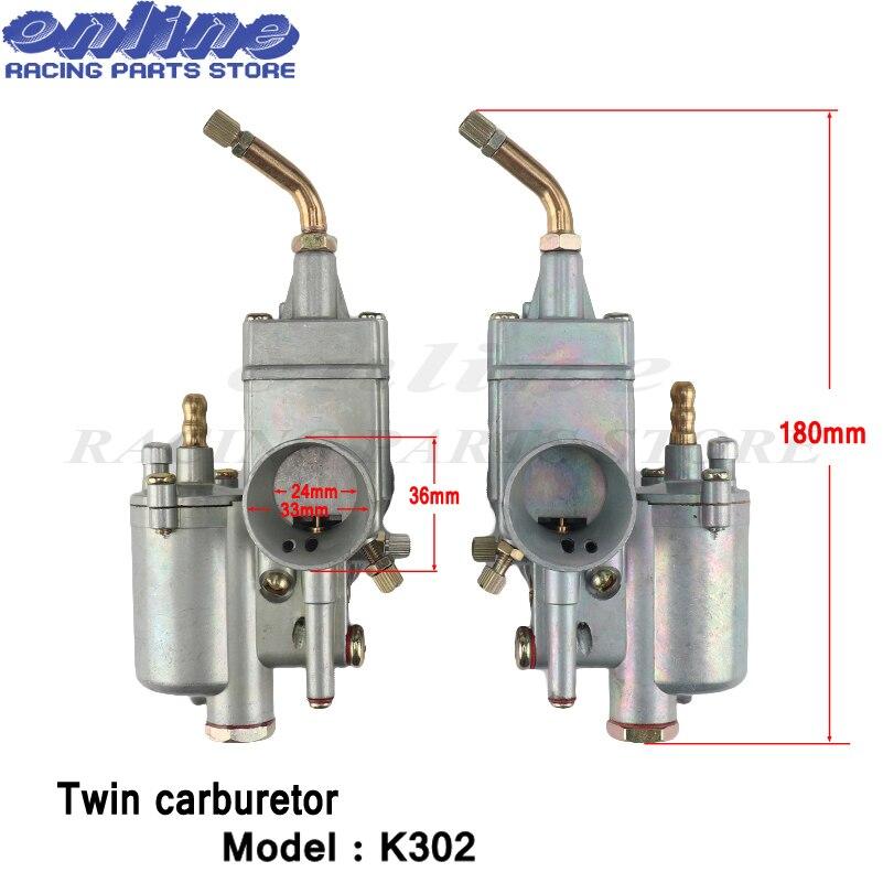 1 paire 28mm carburateur double carburateur Carby pour K302 BMW M72 MT URAL K750 MW Dnepr