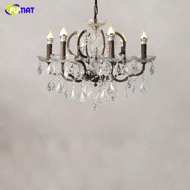 FUMAT moderne lustre en cristal salon lustres de cristal bougie décor pendentifs lustres éclairage à la maison lampe d'intérieur