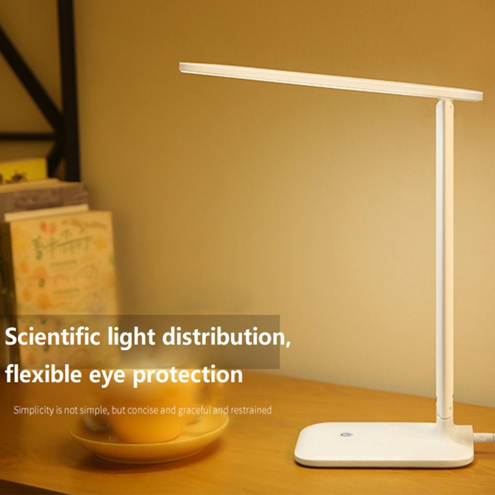 купить 42 LED Desk Read Lamp Office Table Eye Protection Light USB Powered Study lamp Foldable Stepless Dimmable Touch Sensor Control по цене 1561.22 рублей