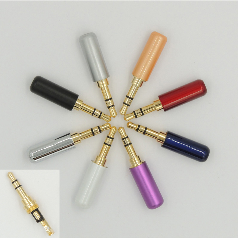 100PCS High quality 1 8 3 5mm 3 pole Stereo Male Plug Audio Plug for music
