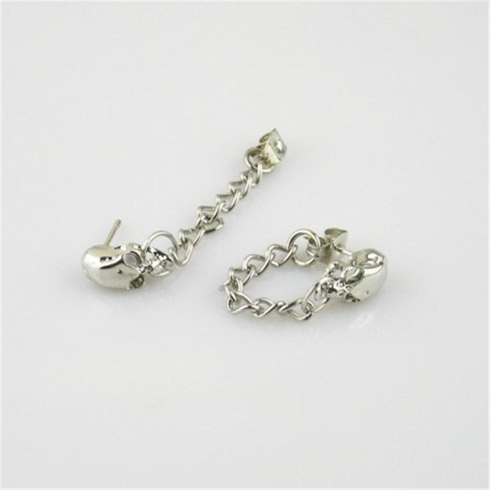 Wholesale k-pop BIGBANG G-Dragon GD TOP one of a kind Skull Chain Men or Women Stud earrings FR230