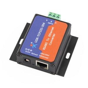 Image 2 - USR TCP232 304 seri RS485 tcp/ip Ethernet sunucu dönüştürücü modülü dahili web sayfası DHCP/DNS desteklenen modülleri Q14870