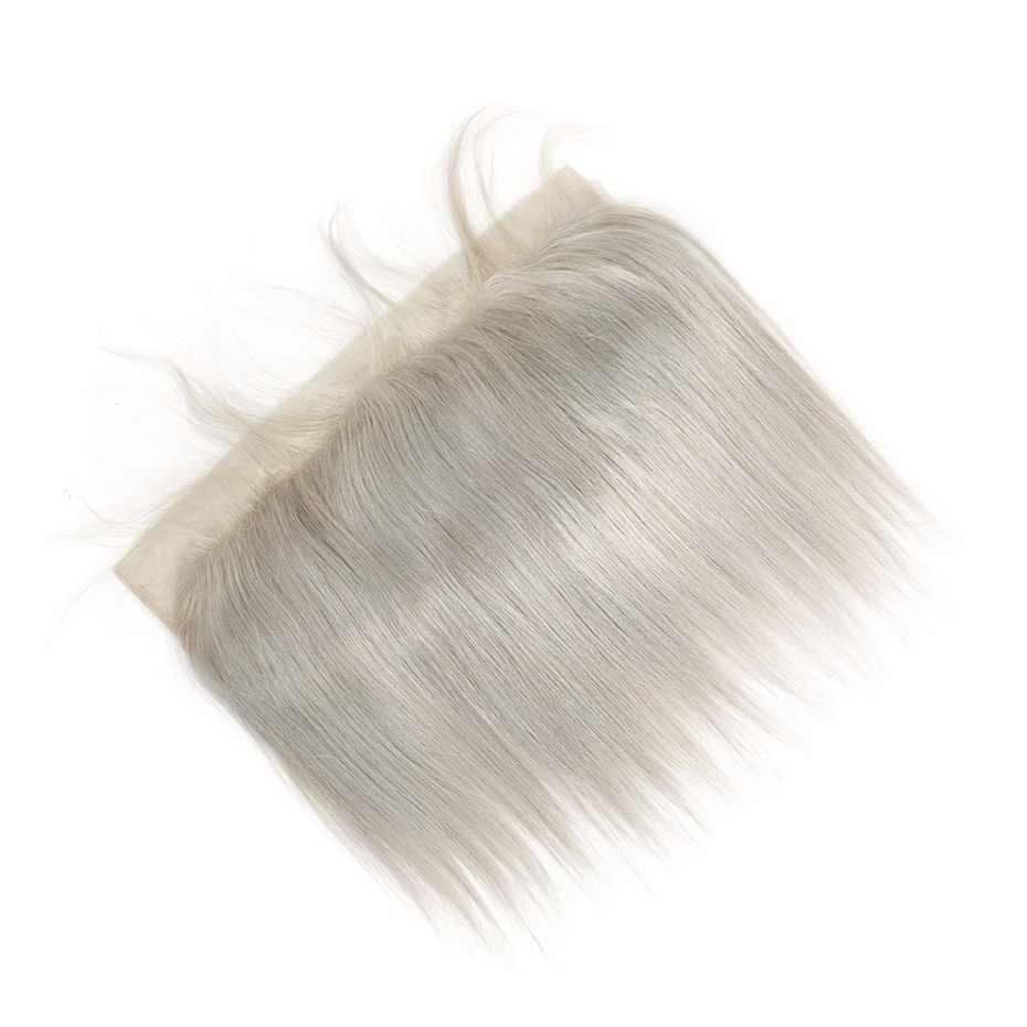 Stema прямые 13x4 кружева фронтальные с ребенком волос цветной серый фронтальный Бразильский Человеческие волосы remy расширение Бесплатная доставка