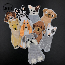 JOD* Embroidery Dogs Iron on Patches for Clothing Children DIY Decorative Clothes Patch Stickers Bags Fabric Badges Applique