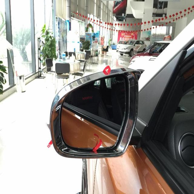 For Suzuki Vitara Accessories 2016 2015 Stickers Rain Gear Trims abs Chrome Rain Eyebrow Car Styling Sticker Rain Gear 2pcs/set